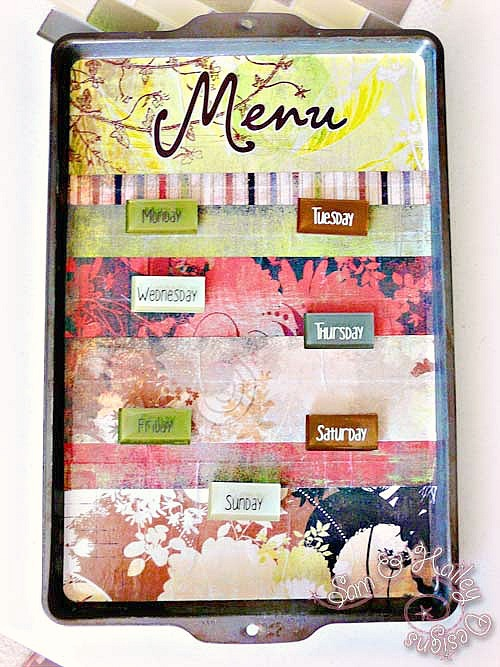 $3 Cookie Sheet Menu Planing Board