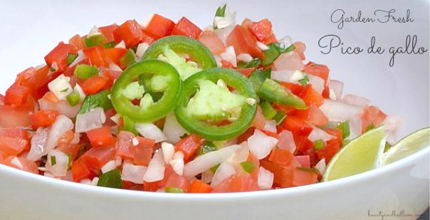 Fresh, Homemade Pico de gallo