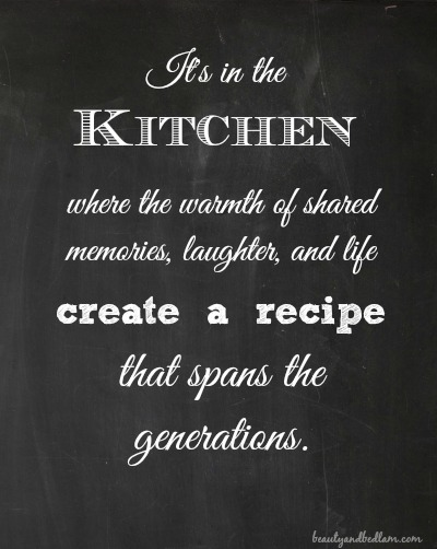 In the kitchen where memories are made