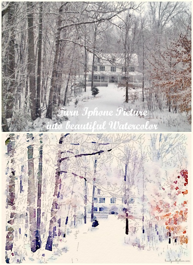 Turn a simple Iphone or ipod picture into a beautiful watercolor in seconds