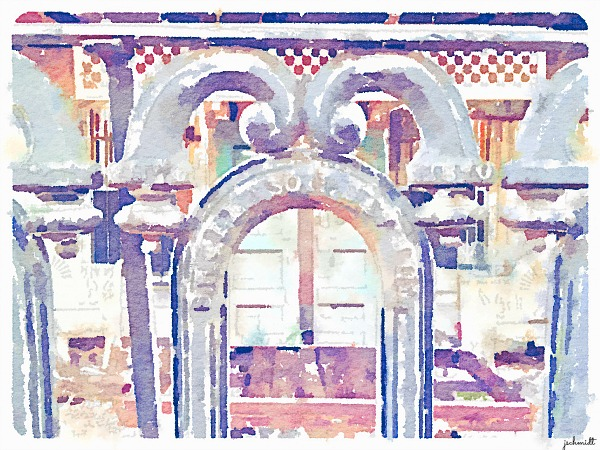 Turning iphone picture into watercolor painting using Waterlogue app