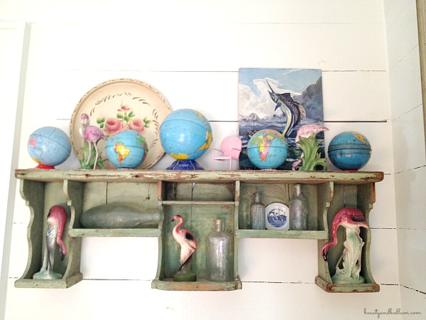 Vintage Decor with globe accents