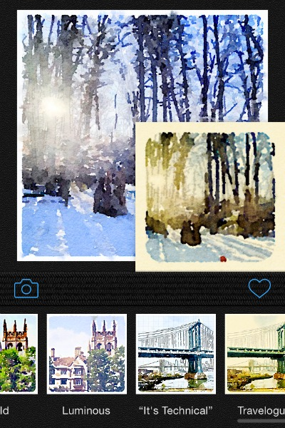 What waterlogue looks like in preview mode