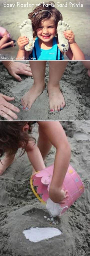 Beach craft - sand print