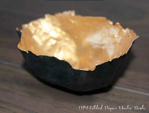 DIY Gilded Paper Mache Bowls