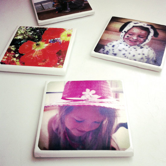 Photo Tile Coasters - such an easy, personalized DIY gift