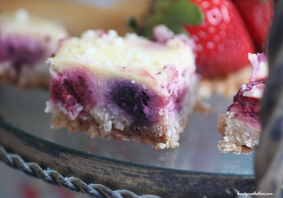 What happens when you combine cheesecake, short bread and fresh berries Sheer delight