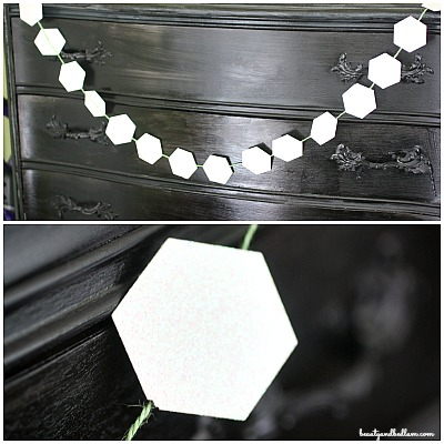 Easy paper punch garland - so many possibilities