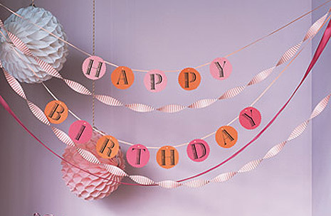 Free printable birthday banner template