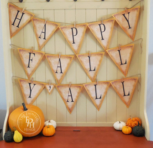 Rustic Happy Fall Free Printable Banner