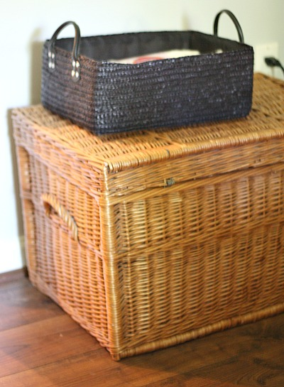 Great basket finds at yard sale. Thrifting as a lifestyle