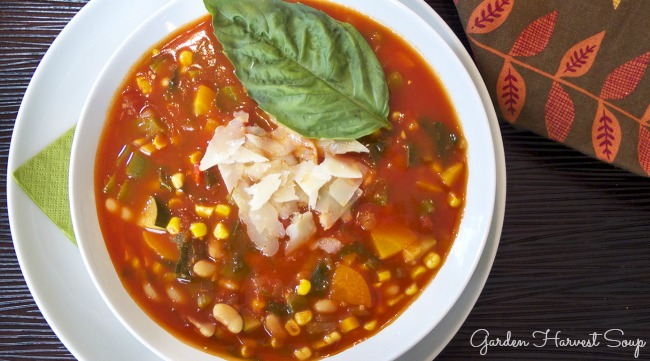 This delicious Vegetable Packed Harvest Soup is the ultimate in healthy comfort food.
