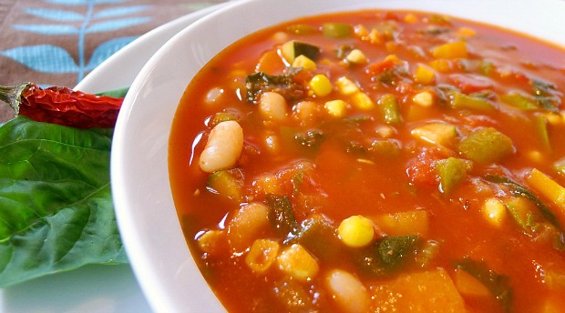 This delicious and hearty Garden Vegetable Soup packs rich flavors and 100 whole foods.