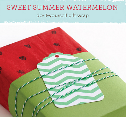 Adorable DIY Watermelon Wrapping Paper tutorial