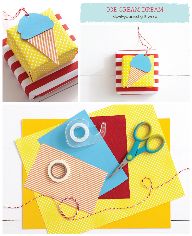 Dress up your package in these adorable DIY gift wrap ideas.