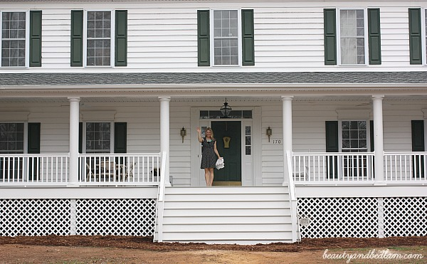Front view of porch