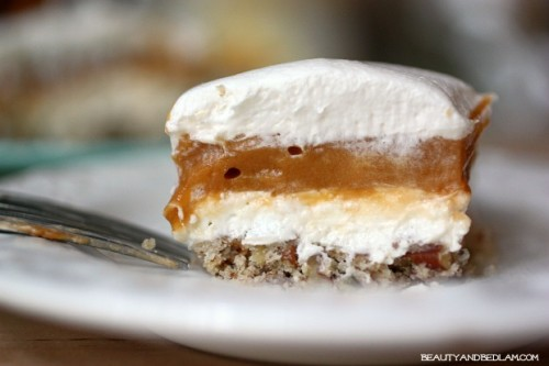 Layered wtih so many creamy flavors, this Butterscotch Torte is always a favorite.