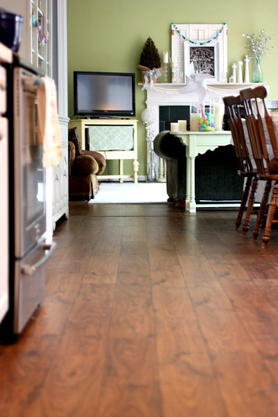 Our new Mohawk handscraped laminate is just gorgeous!! Such a change.