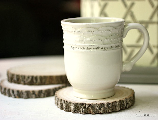 Shop Your Yard: DIY Tree Stump Coasters & Candleholders