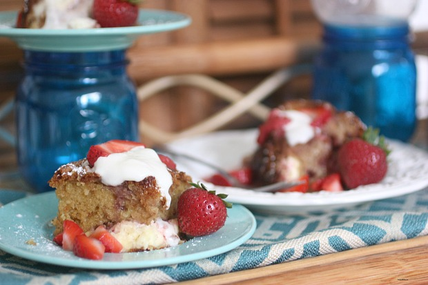 Strawberry Blintz Brunch Bake