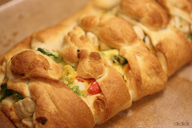 Chicken and Broccoli Braid, plus great video tutorial