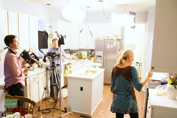 Cooking with @incourage. Behind the scenes of cooking video