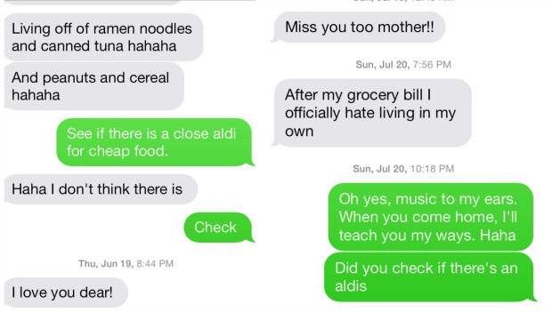 Grocery woes from son