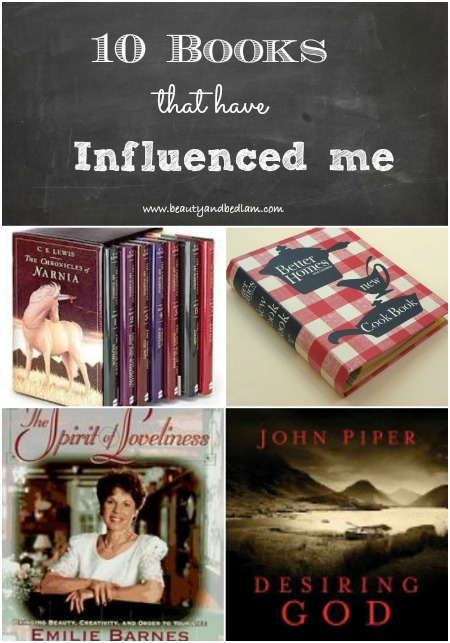 I've been convicted. Books transform us. 10 Books that have influenced me and how I do life