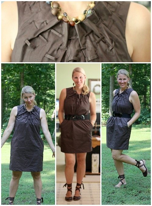 Frugal Fashionista brown dress