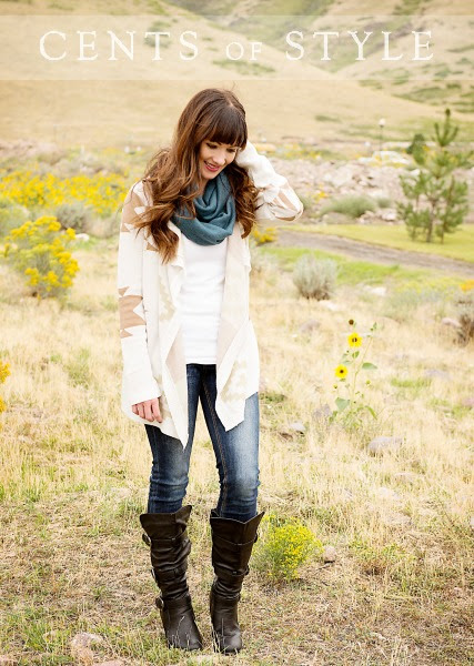 I love this look for fall - boots and scarf