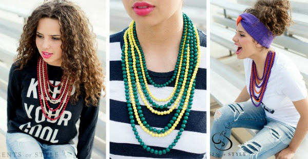 Love these six strand necklaces