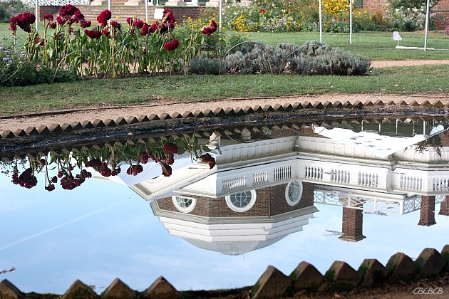 Reflection of Monticello in the water