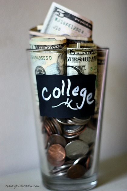 Saving money and paying cash for college tuition