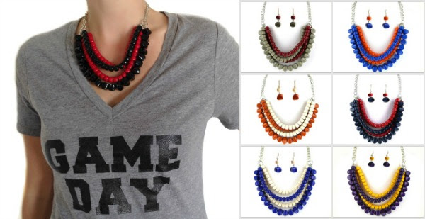Short Necklace team colors