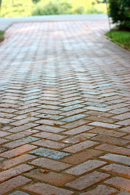 The Brick Walk way to Monticello
