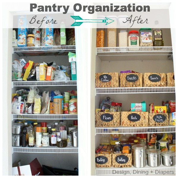 Before and After Pantry Organization Clutter Countdown