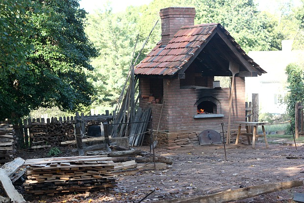 Cooking over the fire at Old Salem