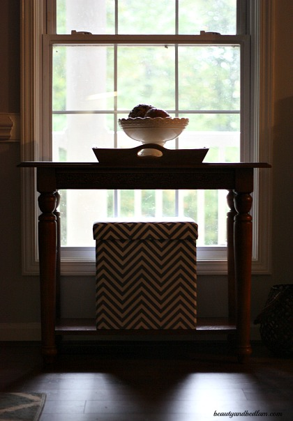 Love the versatility of this Sauder Chevron Storage piece