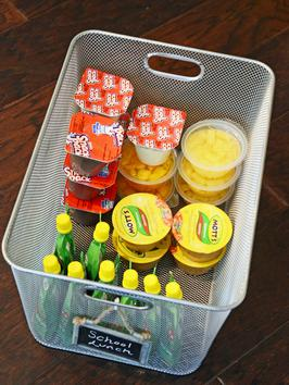 Organize food items together