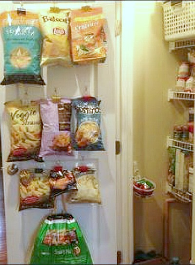 SO SMART! Use commando hooks for chips great tip