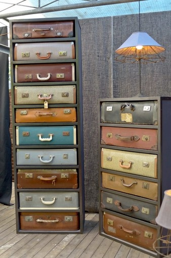 Unique storage ideas. Love using suitcases for lots of storage