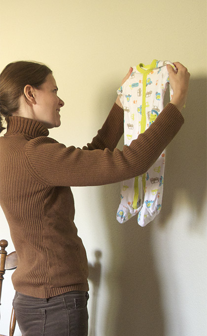 how to declutter baby clothes