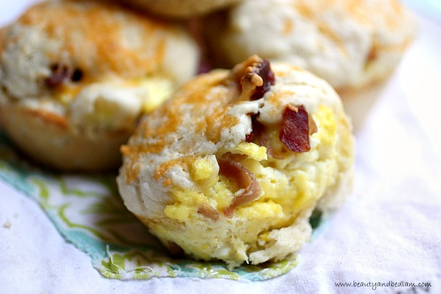 Breakfast filled Biscuit Muffins