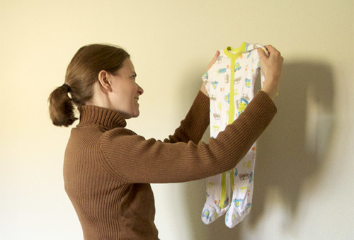 Parting with sentimental baby clothes
