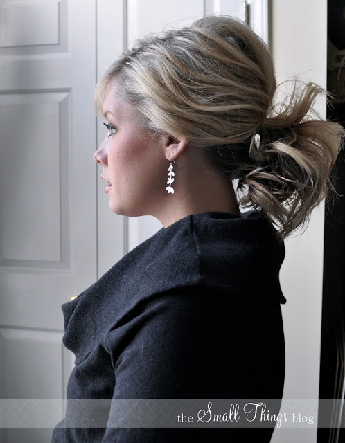 Perfect pony tail for shorter hair