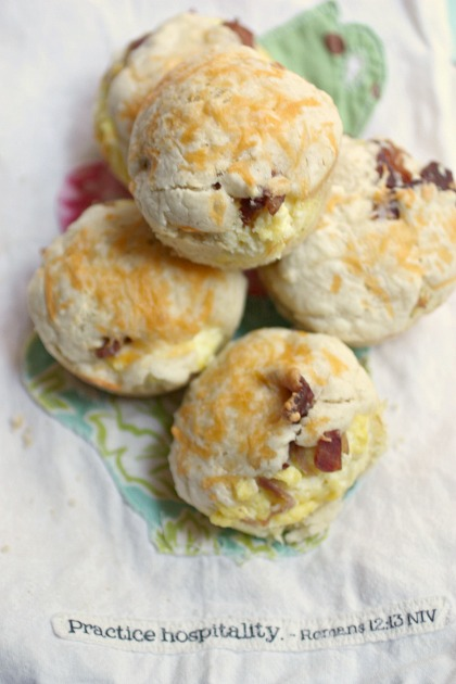Stuffed Biscuits with bacon and eggs