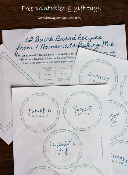 12 quick bread recipes from 1 homemade baking mix