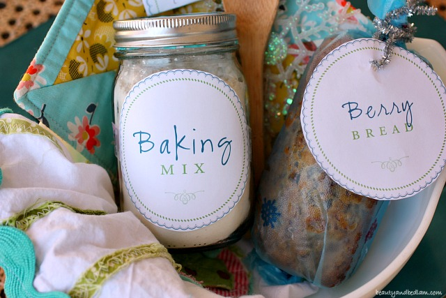 Create a wonderful baking basket with homemade baking mix. such a fun gift