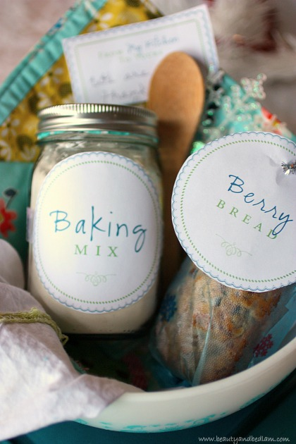 Perfect gift idea - baking basket