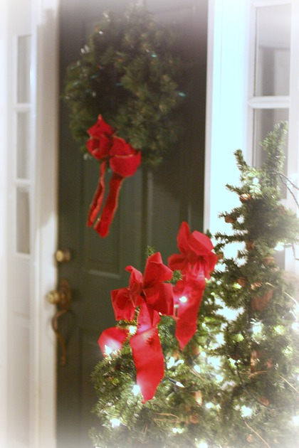 Welcoming door for the holidays